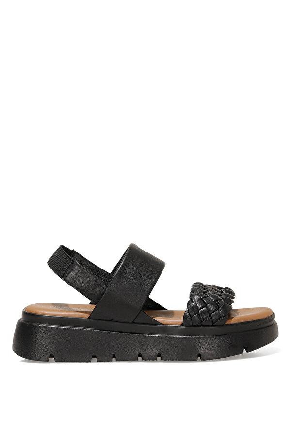 Nine West GUMMO 1FX Siyah Kadın Dolgu Topuk Sandalet