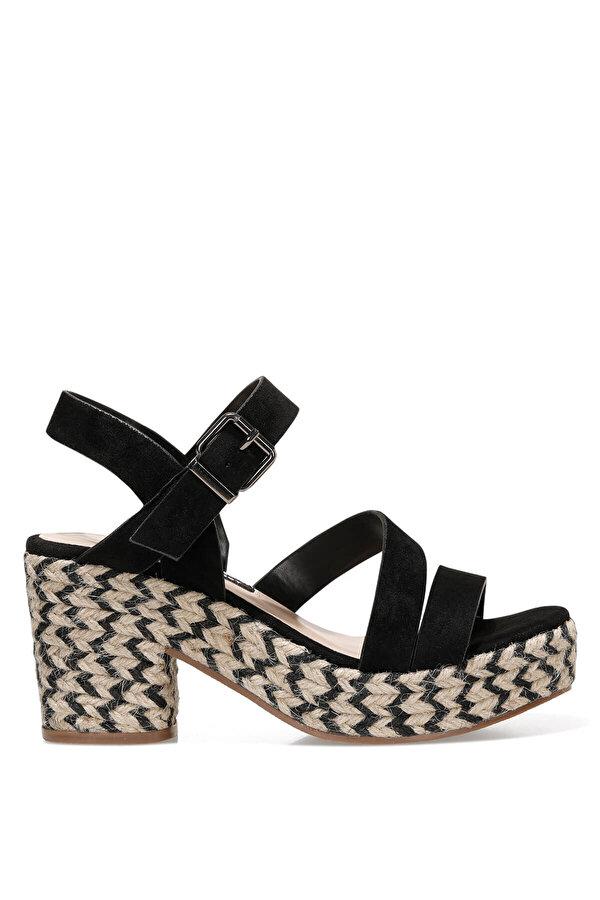 Nine West WEASANN 1FX Siyah Kadın Topuklu Sandalet