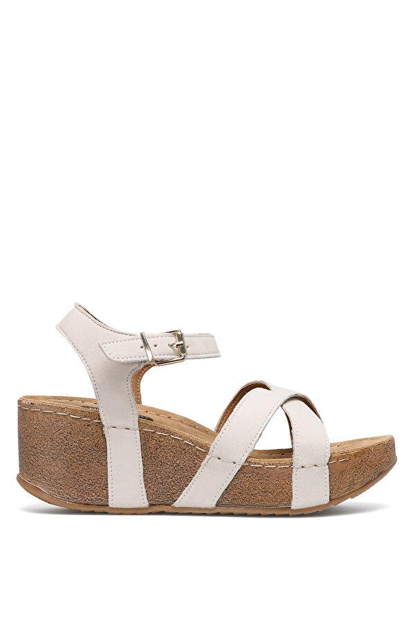 Nine West GOYARD 1FX KIRIK BEYAZ Kadın Dolgu Topuk Sandalet