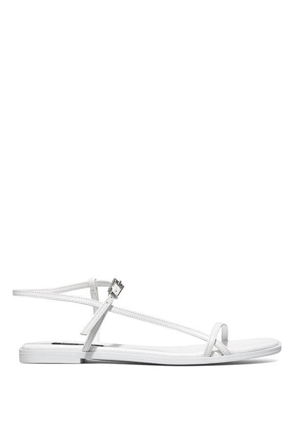 Nine West MELSA 1FX Beyaz Kadın Düz Sandalet