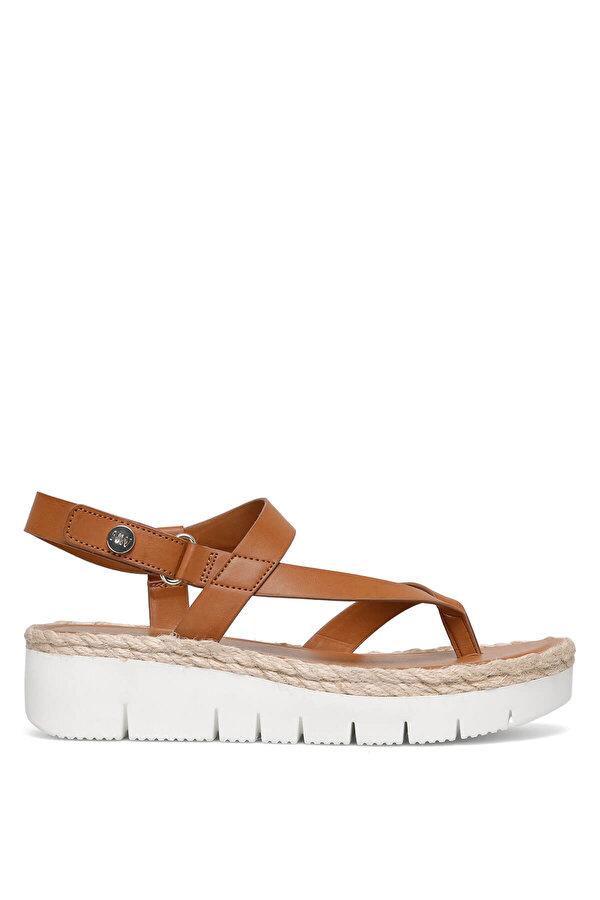 Nine West STARR3 Karamel Kadın Kalın Taban Sandalet