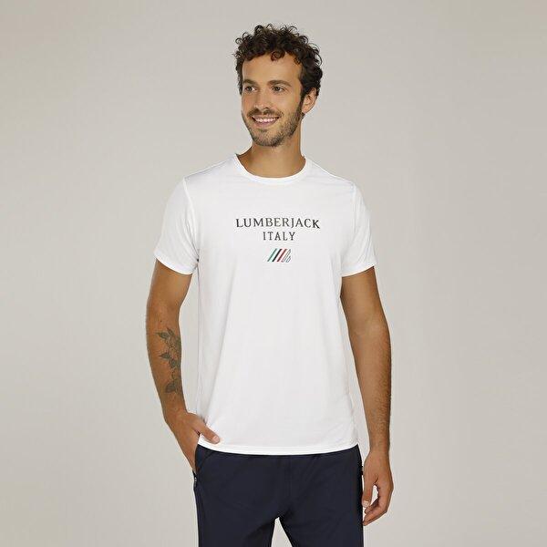 Lumberjack CT453 ITALY LOGO T-SHIRT Beyaz Erkek T-Shirt