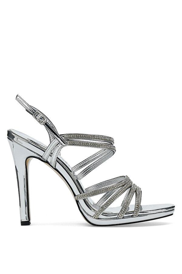 Nine West NATA 1PR Gümüş Kadın Topuklu Sandalet