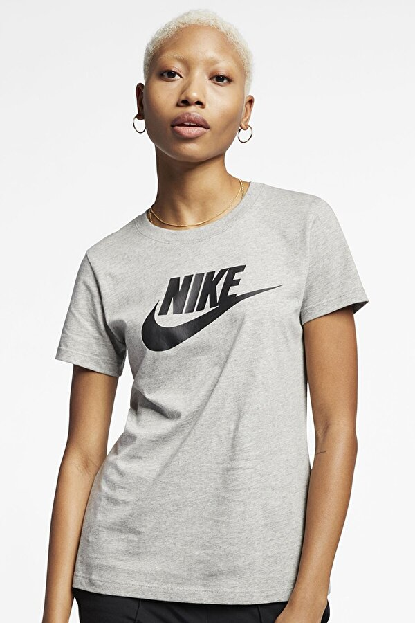 Nike W NSW TEE ESSNTL ICON FUT Gri Kadın T-Shirt