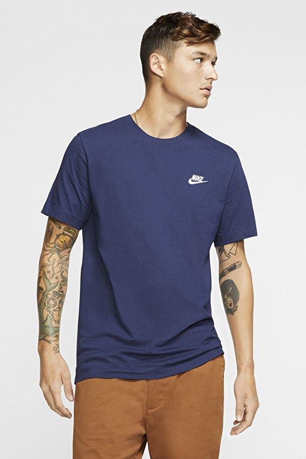 Nike M NSW CLUB TEE Mavi Erkek T-Shirt