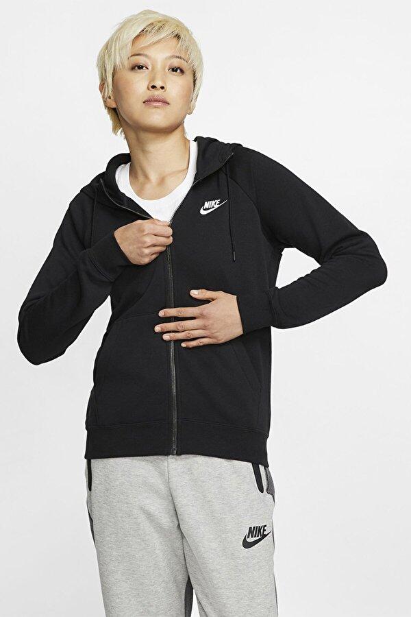 Nike W NSW ESSNTL FLC FZ HOODI Siyah Kadın Sweatshirt