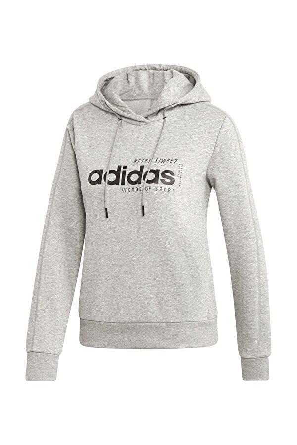 Adidas W BB HDY Gri Kadın Sweatshirt