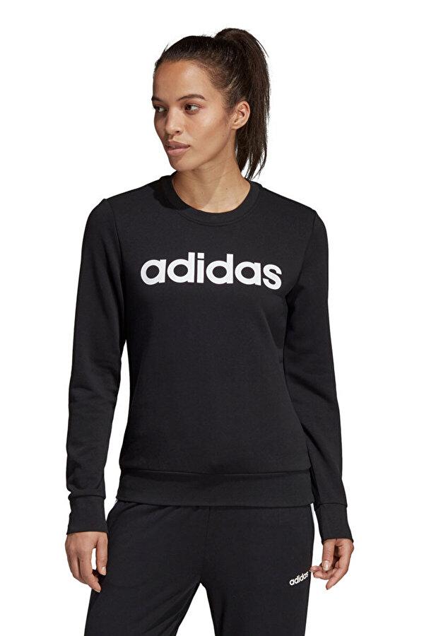 Adidas W E LIN SWEAT' Siyah Kadın Sweatshirt