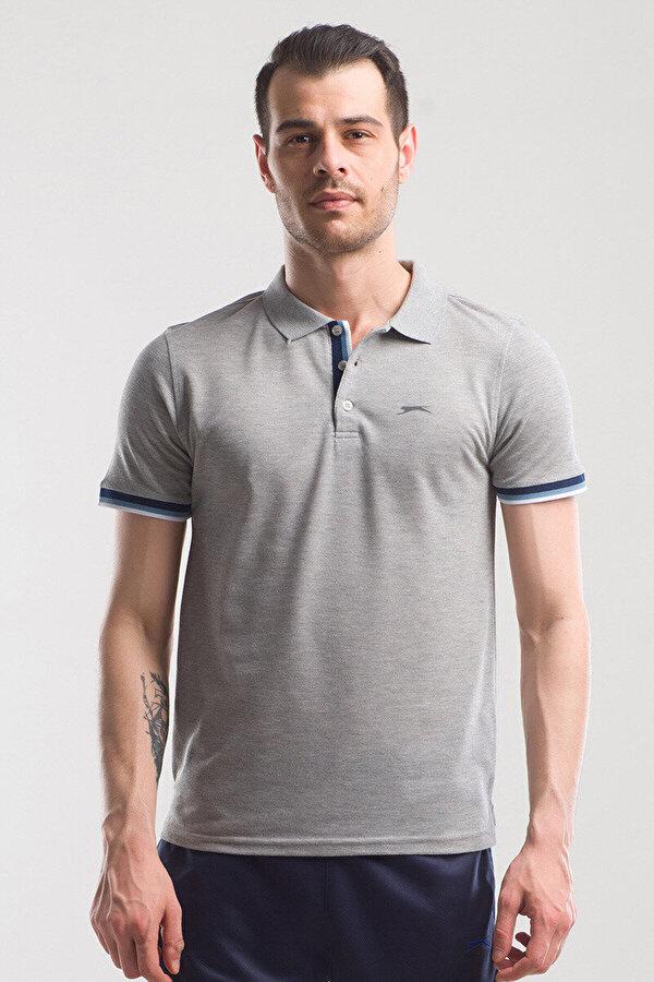 Slazenger PARTNER Gri Erkek T-Shirt