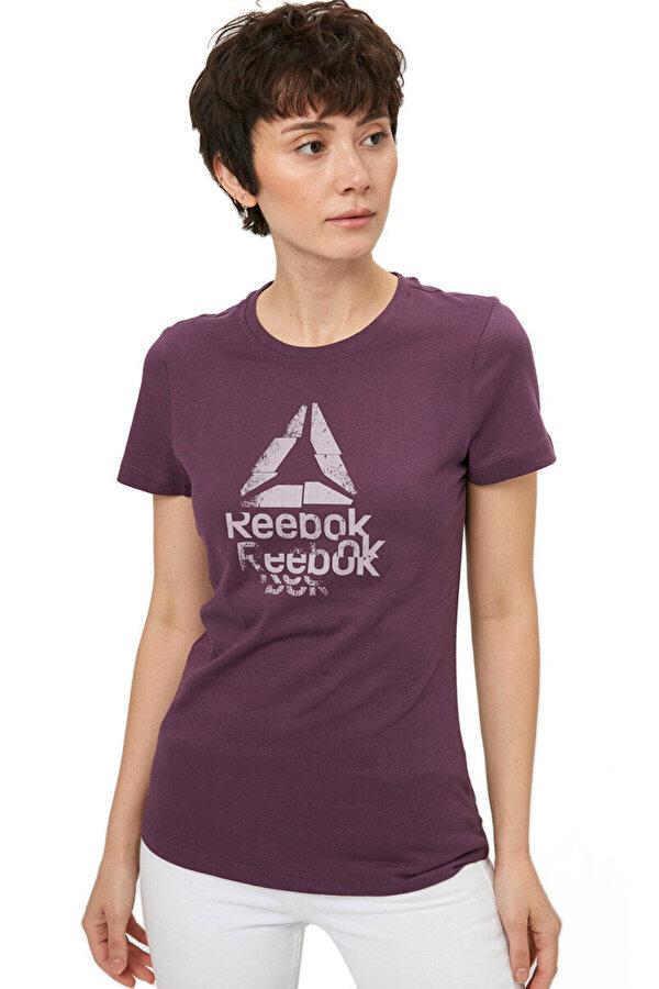 Reebok GS TEXTURE LOGO CREW Mürdüm Melanj Kadın T-Shirt