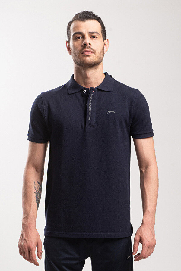 Slazenger PLATON Lacivert Erkek Kısa Kol Tişört