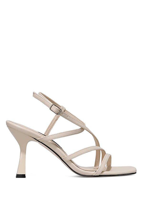 Nine West RIA 1FX Bej Kadın Topuklu Sandalet