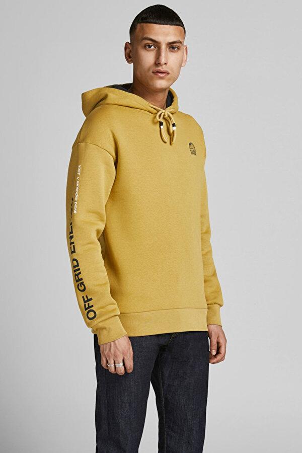 Jack Jones Jack & Jones JCOPOUL SWEAT HOOD Hardal Erkek Sweatshirt