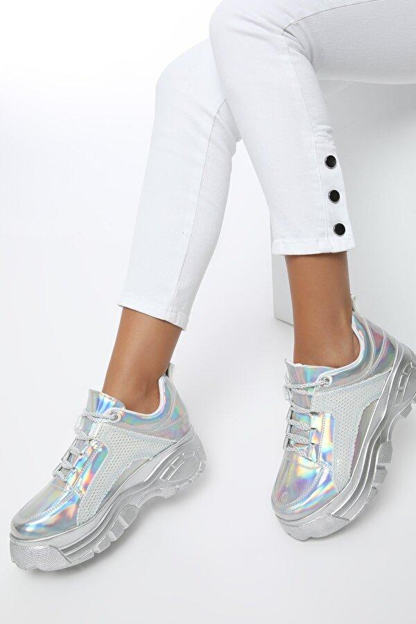Butigo 20S-499 Gümüş Kadın Sneaker Ayakkabı