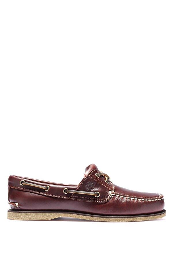 Timberland CLASSIC BOAT 2 EYE Bordo Erkek Deri Loafer Ayakkabı