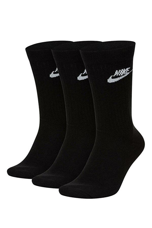 Nike U NK NSW EVRY ESSENTIAL C Siyah Unisex Çocuk Çorap