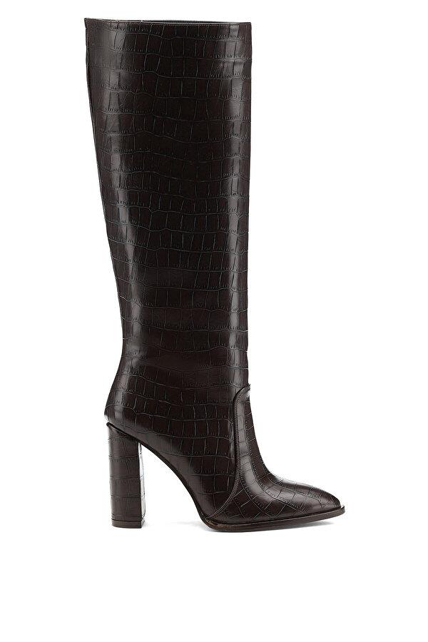 Nine West JIZELA 1PR Kahverengi Kadın Topuklu Çizme