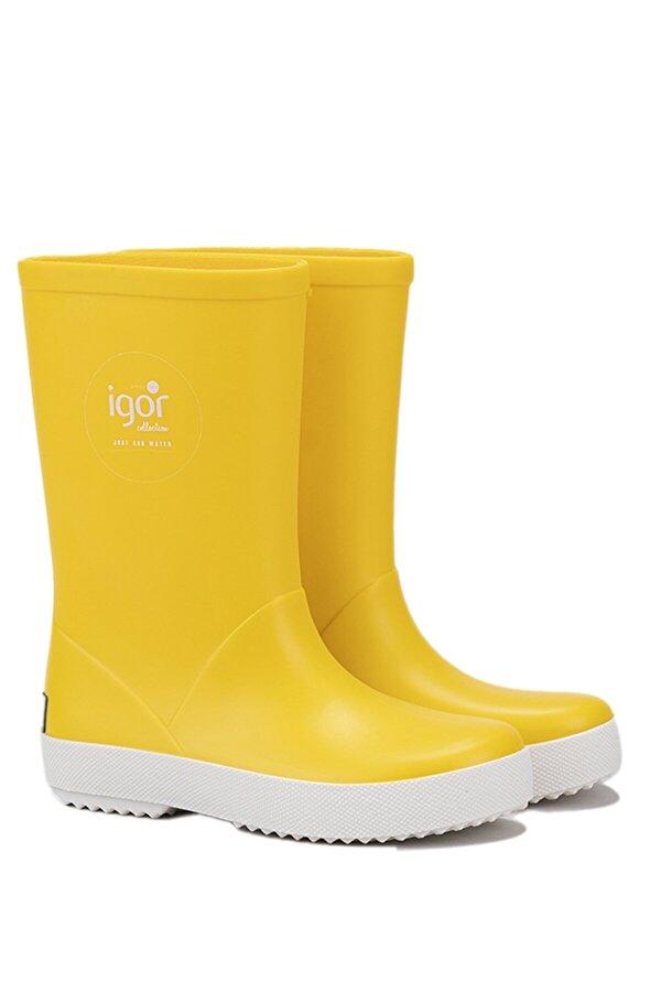 Igor Sarı Unisex Çocuk Yağmur Çizmesi