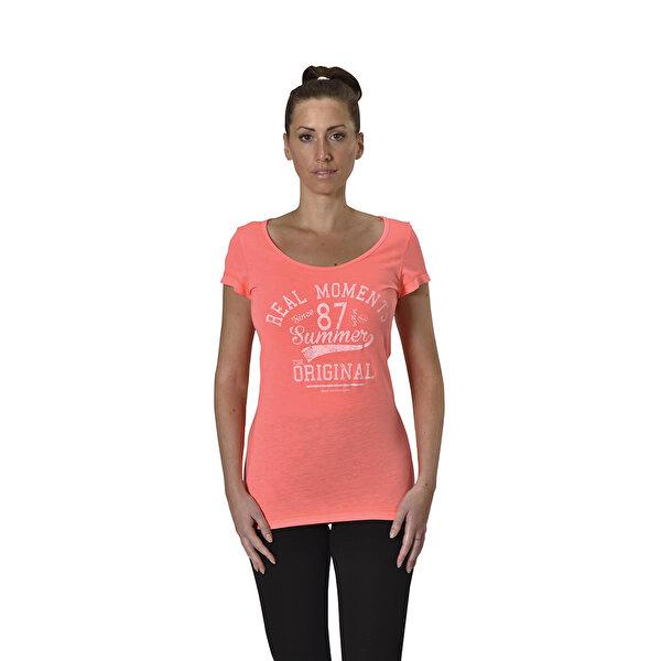 Kinetix A5132750 Turuncu Kadın T-Shirt