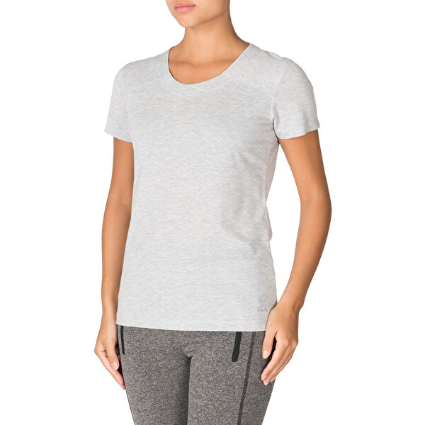 Kinetix SONIA T-SHIRT Gri Mel Kadın T-Shirt
