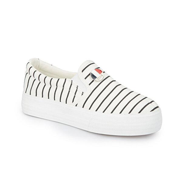 U.S. Polo Assn. MOCKING Beyaz Kadın Slip On Ayakkabı