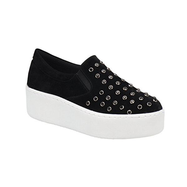Butigo S789 Siyah Kadın Slip On Ayakkabı