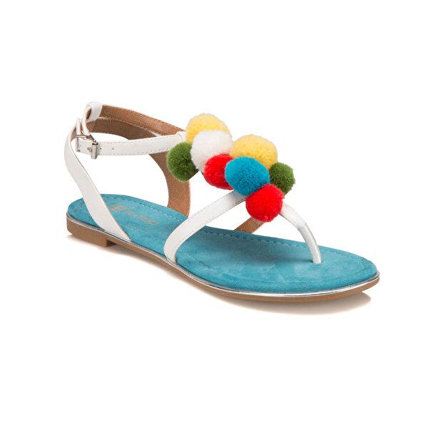 Butigo S1096 Beyaz Kadın Sandalet