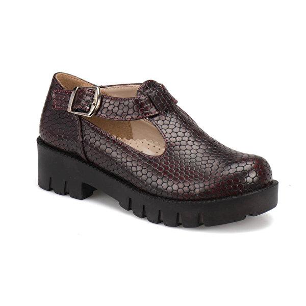Seventeen FP1000 Bordo Kız Çocuk Ayakkabı