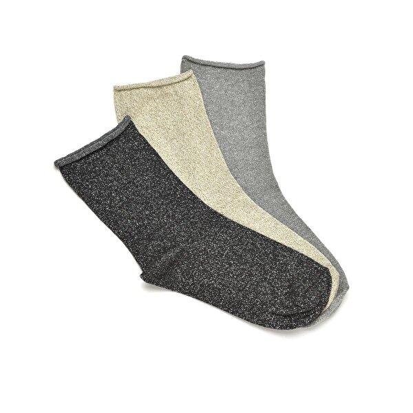 Fiyaka FYK02 Siyah Kadın Soket Çorap