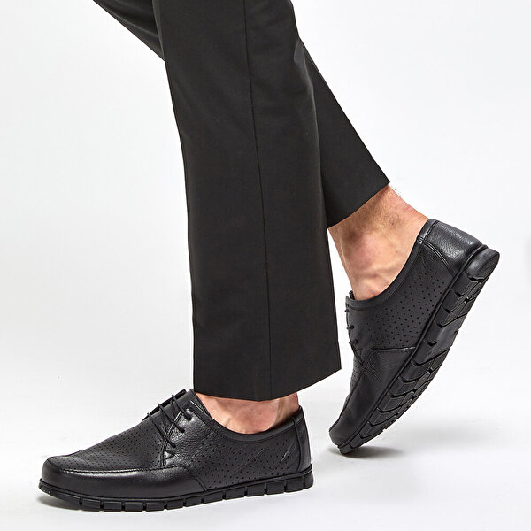 Polaris 5 Nokta 91.100541.M Siyah Erkek Comfort Ayakkabı