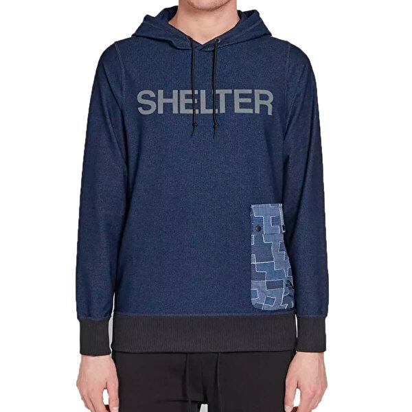 THE NORTH FACE M SHELT PULLOVERHOOD COSM Lacivert Erkek Sweatshirt