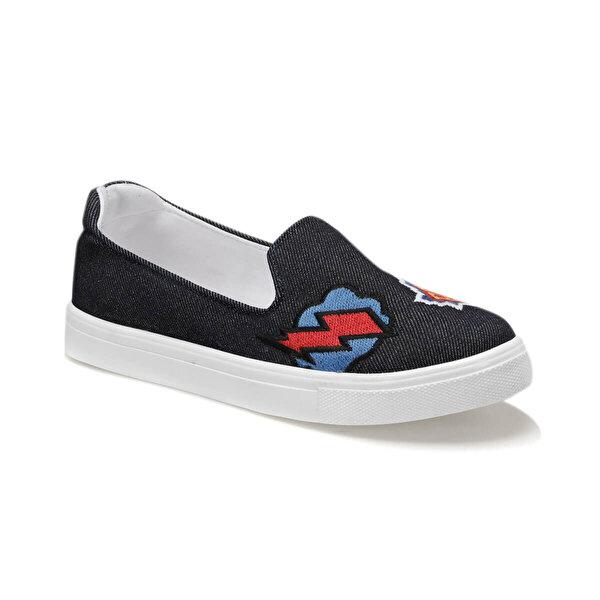 Art Bella U1304 Lacivert Kadın Slip On Ayakkabı