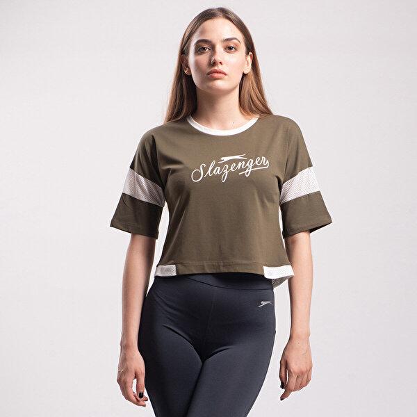 Slazenger POLSY Haki Kadın Kısa Kol Tişört