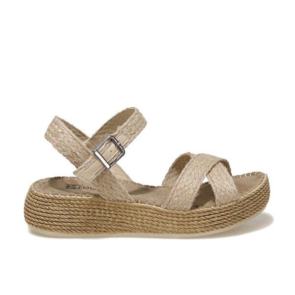 Butigo GABRİELLA 1FX Naturel Kadın Ayakkabı>Sandalet>Topuksuz Sandalet
