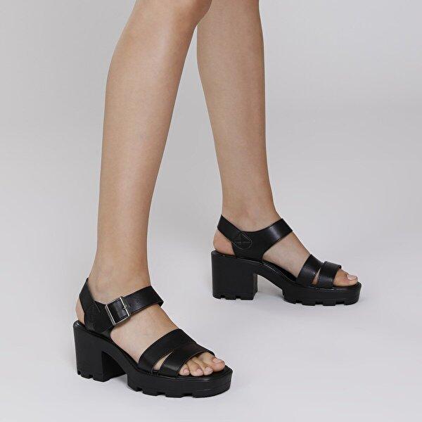 Butigo S803-19IY1FX Siyah Kadın Ayakkabı>Sandalet>Topuksuz Sandalet