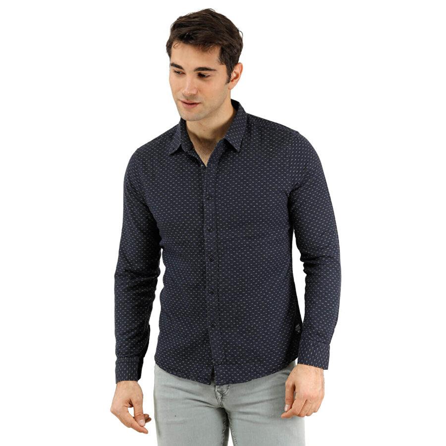 Phazz Brand 3011 Lacivert Erkek Uzun Kollu Gömlek