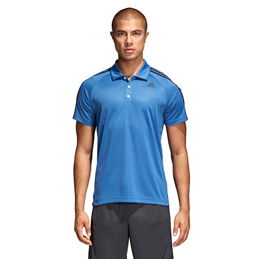 Adidas D2M 3S POLO Mavi Erkek T-Shirt