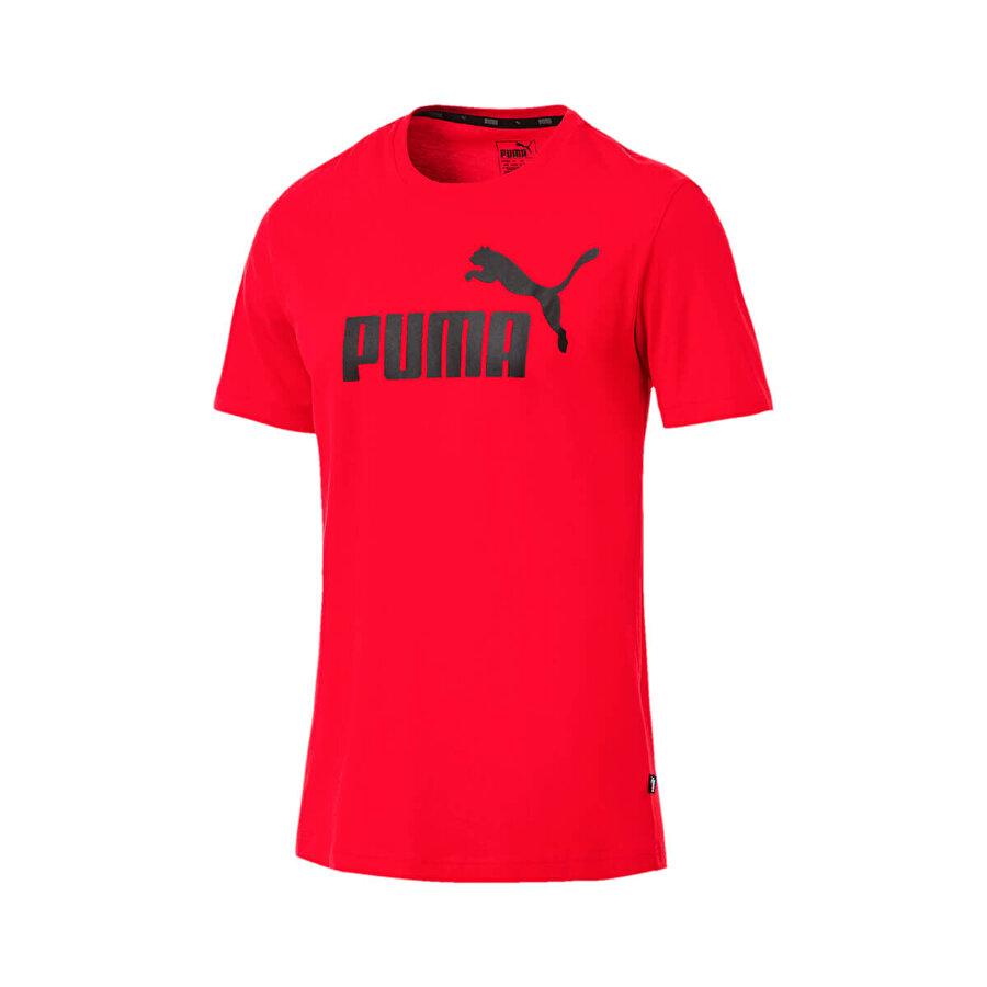 Puma ESS LOGO TEE Kırmızı Erkek T-Shirt