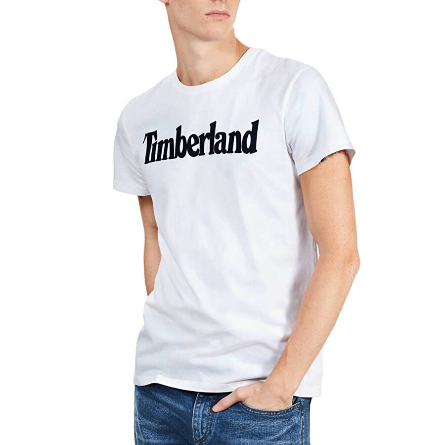 Timberland SS KENNEBEC RIVER BRAND Beyaz Erkek T-Shirt
