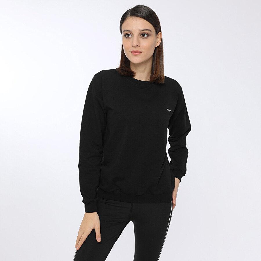 Kinetix BASIC C NECK SWEATSHIRT W Siyah Kadın Sweatshirt