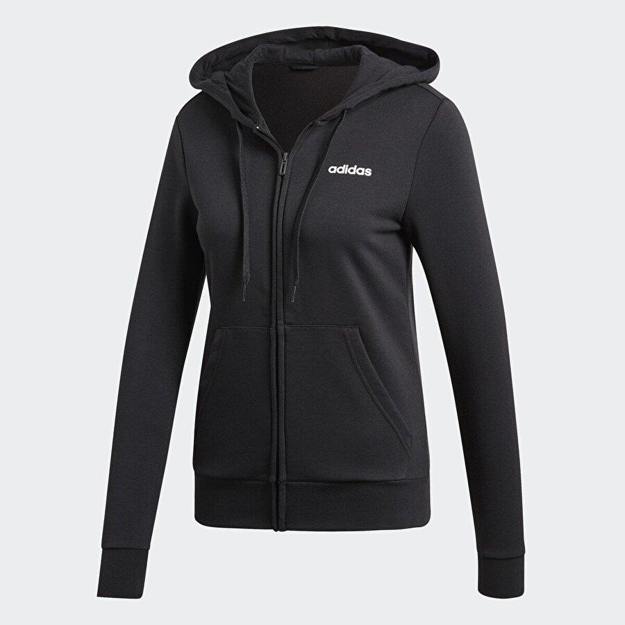 Adidas W E PLN FZ HD Siyah Kadın Fermuarlı Sweatshirt