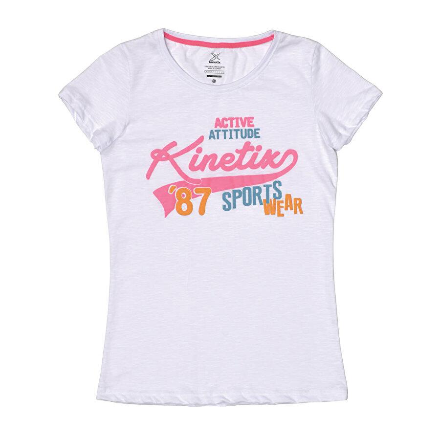 Kinetix A5132575 Beyaz Kadın T-Shirt