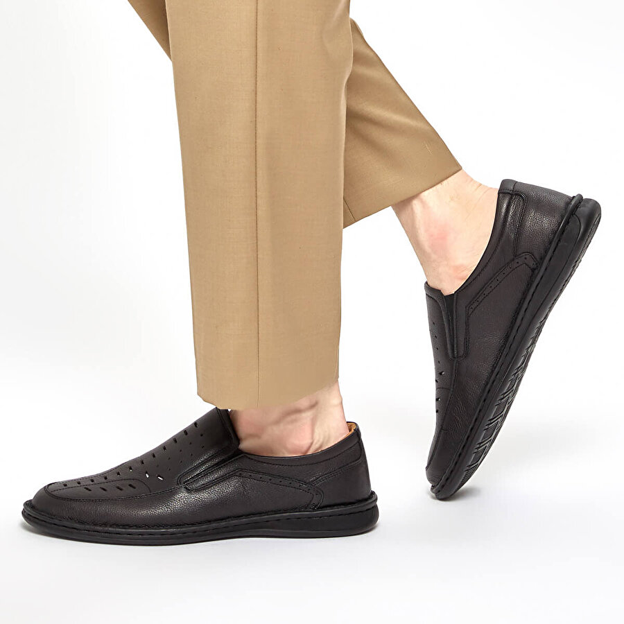 Polaris 5 Nokta 91.100575.M Siyah Erkek Comfort Ayakkabı
