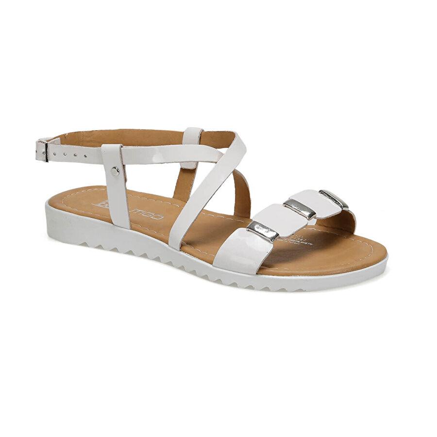 Butigo 19S-161 Beyaz Kadın Düz Sandalet