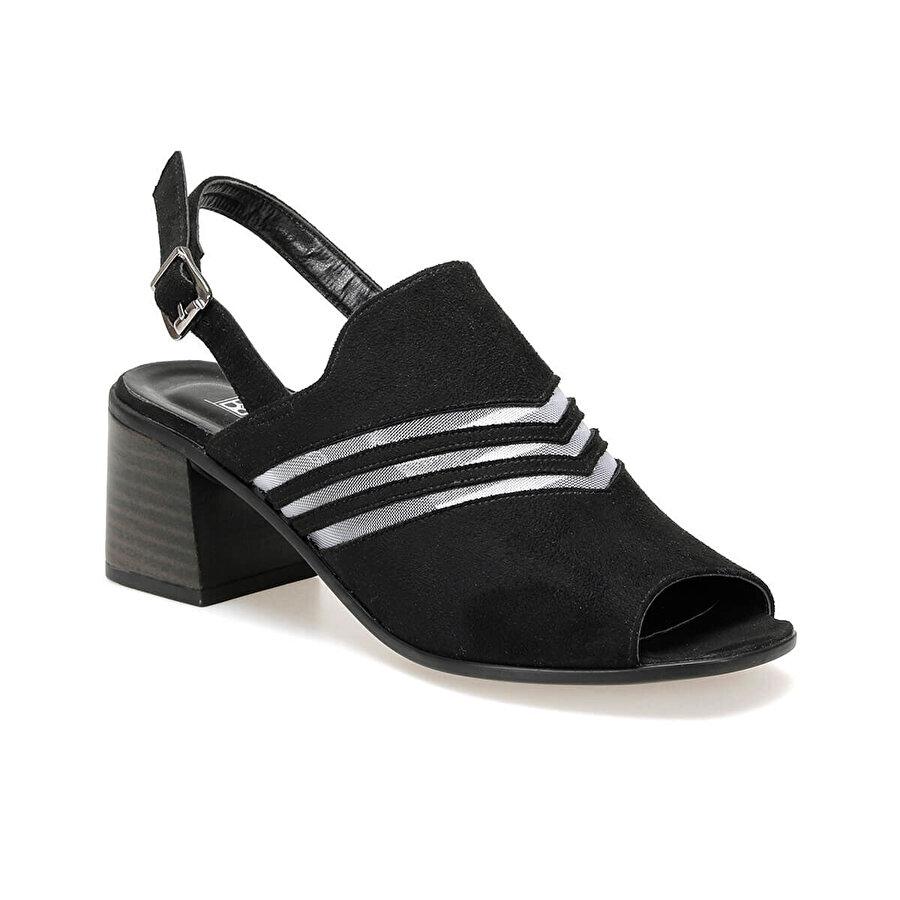 Miss F DS19146 Siyah Kadın Sandalet