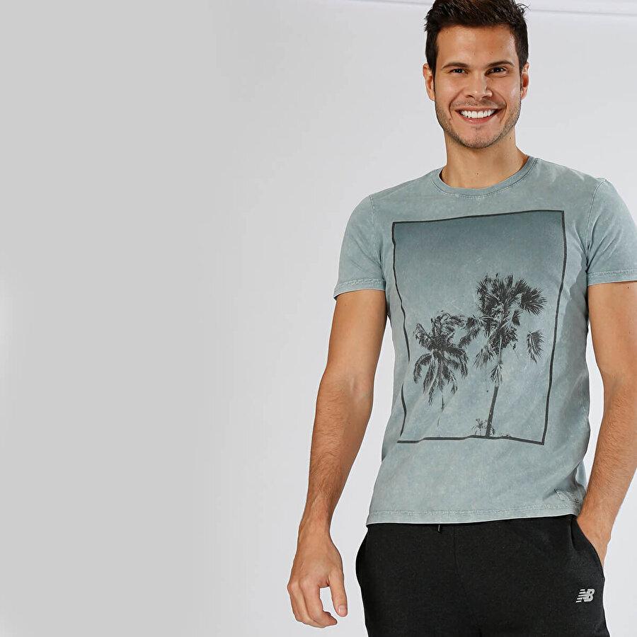 MUSTANG 04-M00123-503 Mavi Erkek T-Shirt