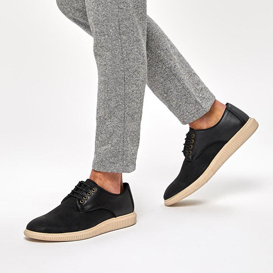 JJ-Stiller 85129-2 Siyah Erkek Oxford Ayakkabı