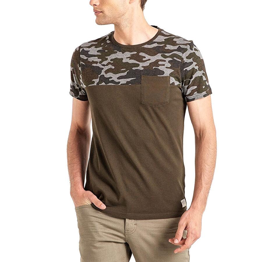 MUSTANG 04-M00164-671 Haki Erkek T-Shirt