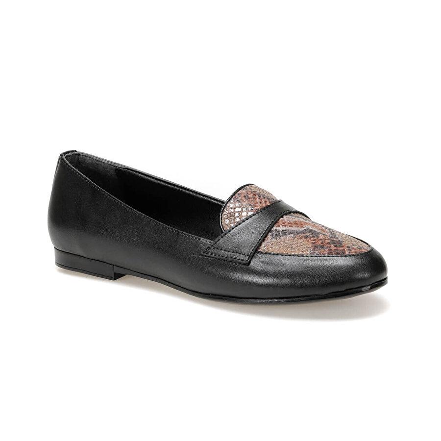 Miss F DW19083 Siyah Kadın Loafer Ayakkabı