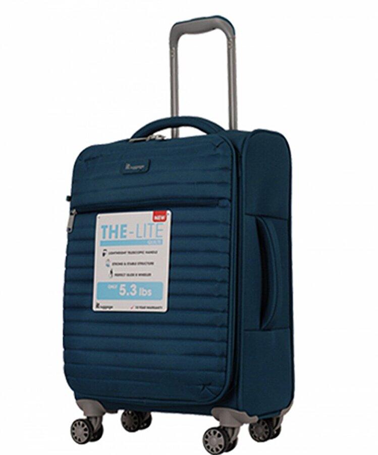 IT LUGGAGE 02148 Mavi Büyük Boy Kumaş Valiz